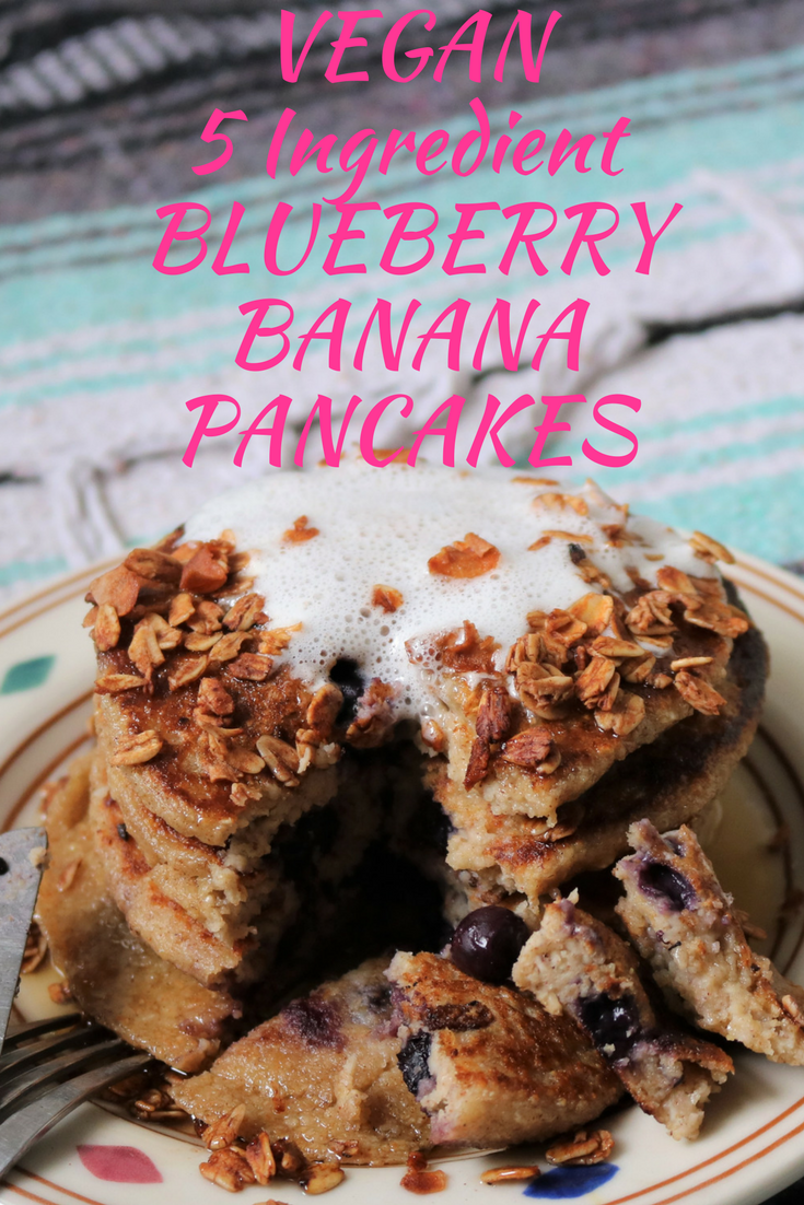 VEGAN5 Ingredient BLUEBERRYBANANAPANCAKES